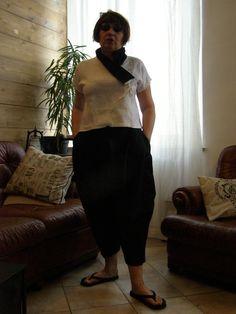 giacca/ casacca in lino bianco e nero