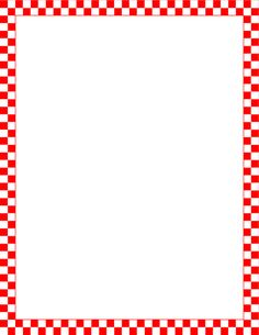 Printable red and white checkered border. Free GIF, JPG, PDF, and PNG downloads at http://pageborders.org/download/red-and-white-checkered-border/