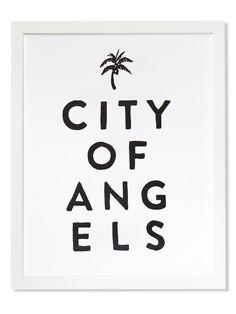 City of Angels Letterpress Art Print | Sycamore Street Press