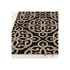 """Grandin Road Medallion Monroe Outdoor Area Rug - 4' X 5'3"""" ($129) ❤ liked on Polyvore featuring home, rugs, neutral rugs, stain resistant area rugs, outdoor patio area rugs, stain resistant rugs and outdoor area rugs"""