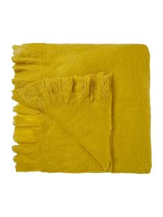 Wool mix throw, citrine