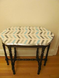 chevron table for our living room?