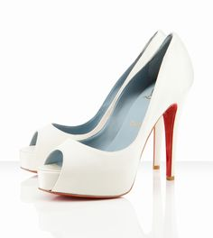 Lady Marmalaide loves this... Christian Louboutin Hyper Prive 120mm Off White