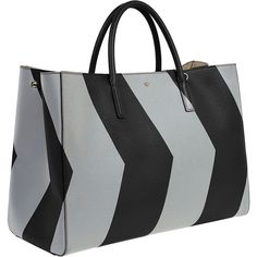 Anya Hindmarch Ebury Maxi Featherweight Chevron Tote Bag ($2,410) ❤ liked on Polyvore featuring bags, handbags, tote bags, black purse, accessories handbags, chevron tote bag, anya hindmarch tote and chevron handbags
