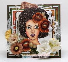 Bloom Girl - Joy stamp and Prima products