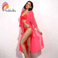 Freezing dresses Womens Chiffon Bathing Suit Swimwear Bikini Swimsuit Beach Wear Cover up
