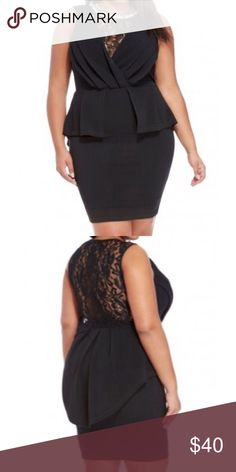 Lace detail peplum dress New lace detail plus size dress fits a size 18-20 Dresses