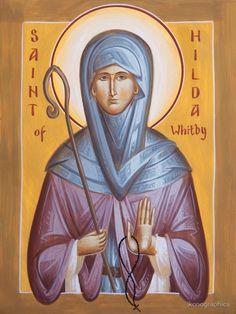St. Hilda of Whitby by Julia Bridget Hayes