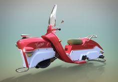 Motorcycle Futurist Vintage by Felipe Ferreira | Transport | 3D | CGSociety