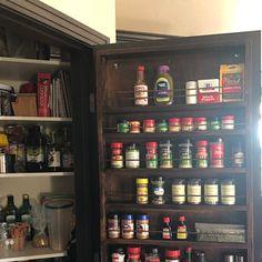 Spice rack mounted on the door pantry door mounted spice Spice Rack On Pantry Door, Pantry Door Storage, Spice Storage, Spice Organization, Organizing, Spice Rack Uses, Door Mounted Spice Rack, Spice Rack Organiser, Kitchen Pantry Design