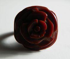 Rare Vintage MINT Carved Brick Red Cherry by RevampedVintage1973, $125.00