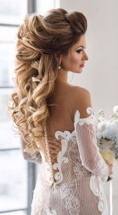 Long Wedding Hairstyles from Elstile / http://www.himisspuff.com/long-wedding-hairstyles-from-elstile/