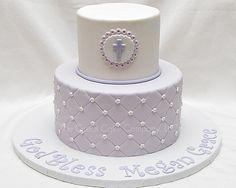 first communion cake perlas en Lugar de flores