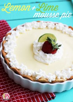 Lemon+Lime Mousse Icebox Pie
