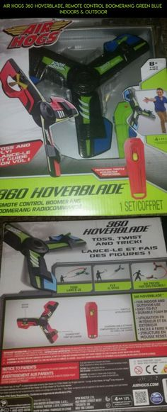 Air Hogs 360 Hoverblade, Remote Control Boomerang Green Blue  Indoors & Outdoor #blue #boomerang #camera #360 #products #hogs #kit #technology #fpv #drone #hoverblade #remote #racing #control #tech #plans #gadgets #air #shopping #parts