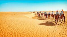 El desierto del Sahara La huella del ser humano se deja sentir incluso en lugares tan apartados y solitarios como los desiertos.