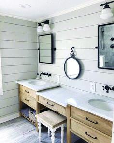 Graceful shiplap bathroom blue to inspire you