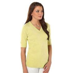 0a2fed67d9 Misses Jones New York Solid Elbow Length Sleeve T-Shirt  11.99 New York T  Shirt