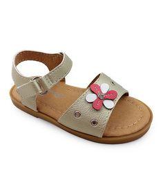 Another great find on #zulily! Gold Angel Flower Sandal - Kids #zulilyfinds