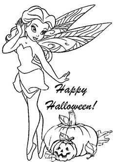 halloween+fairy - Idear from Christina: Juse this for a card. Print it out on cardborad and color, or color it and juse this as a front page.