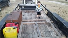 Who am I to deny him the simple pleasure of playing on a dirty landscaping trailer. #daddy #love #family #dad #daughter #baby