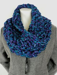 Hour-and-a-Half-Cowl by Cari4, yarnspirations: http://www.yarnspirations.com/blog/hour-and-half-cowl #DIY #Knitting #Cowl #Fast
