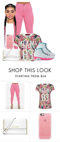 """If we ain't talking money, we ain't talking"" by boss-baby ❤ liked on Polyvore featuring Boohoo, MICHAEL Michael Kors, NIKE, Casetify and AG Adriano Goldschmied"