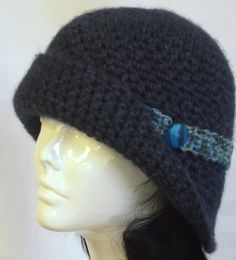 Womans Handmade  Hat  Crochet Cloche  Vintage Style by SophiesHats