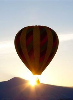 Original art for sale at UGallery.com | Balloon Sunrise by Sarah Diaz | photography | 36' h x 24' w