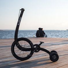 Halfbike II is a pedal-powered vehicle for navigating city streets.