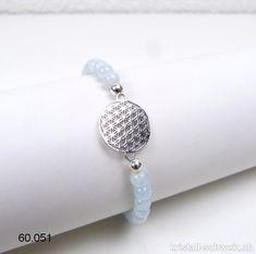 Bleu Strang 39 cm Perles Goldfluss 8 mm