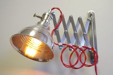 Industrial Scissor Articulating Wall Lamp Light  by LongMadeCo