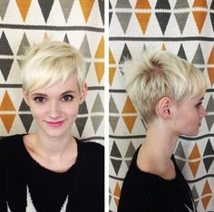 Cute Blonde Pixie Hairstyle - Everyday Hairstyles for Short Hair 2015