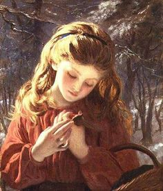 Fine Art Print of A New Friend by Sophie Anderson Paintings I Love, Beautiful Paintings, French Paintings, Sophie Anderson, Pre Raphaelite, Foto Art, Victorian Art, Oil Painting Reproductions, Oeuvre D'art
