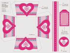 Cajas de san Valentín para Imprimir ~ lodijoella