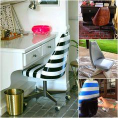 Casa Montada: DIY: Cadeiras de couro/vinil pintadas