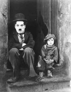 Charles Chaplin & Jackie Coogan