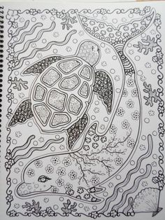 COLORING BOOK Sea TuRtLEs Coloring Book You be от ChubbyMermaid