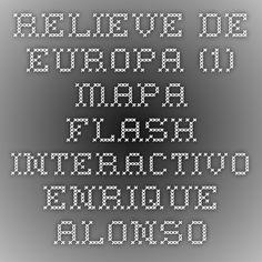 Mapa interactivo relieve de europa