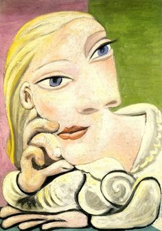 Painting by Pablo Picasso, 1932, Portrait de Marie-Therese Walter.