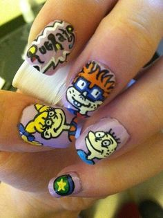 rugrats nails!  Lacquerdaisical.wordpress.com