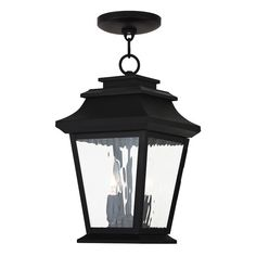 Hathaway 2-Light Outdoor Chain Lantern in Bronze