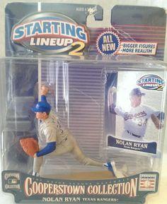 Nolan Ryan Texas Rangers Starting Lineup 2001 Hall of Fame Card Pitcher #Kenner