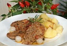Szűzpecsenye egyszerűen   NOSALTY Atkins, Meatloaf, Mashed Potatoes, Paleo, Beef, Breakfast, Ethnic Recipes, Food, Van