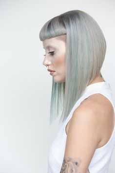 Wella Trend Vision 2015 National Winner Alisha Bashams Creation with Model Cat … - Baby Hair Style Love Hair, Great Hair, Hair Inspo, Hair Inspiration, Hairstyles With Bangs, Cool Hairstyles, Hairstyles Videos, Medium Hair Styles, Short Hair Styles