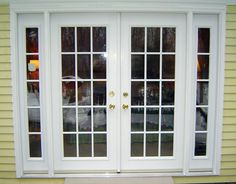 Size Of Exterior French Doors - Fiberglass exterior doors hold the custom capabilities of carvings, glass, decorative metals French Doors With Sidelights, Exterior Doors With Sidelights, Sliding French Doors, Double French Doors, Front Doors With Windows, Glass French Doors, French Windows, French Doors Patio, Patio Doors