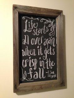 Fall Chalkboard Art