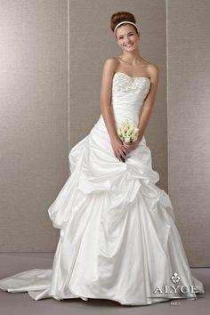 Claudine Wedding Dresses - Alyce Paris -   Style #7861 - Available colours : White, Ivory, Diamond White
