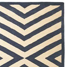 navy + white + new take on chevron stripe = love