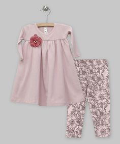 Loving this Rose Floral Lace Dress & Sweet Tweet Leggings - Infant on #zulily! #zulilyfinds